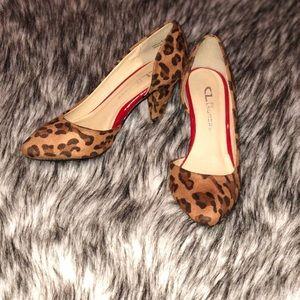 Chinese Laundry cheetah print heels